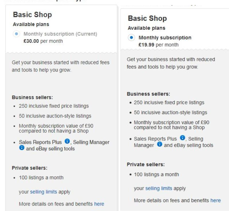 Ebay Shop Subscription Pricing Ebay Suspended Paypal Limited Forums