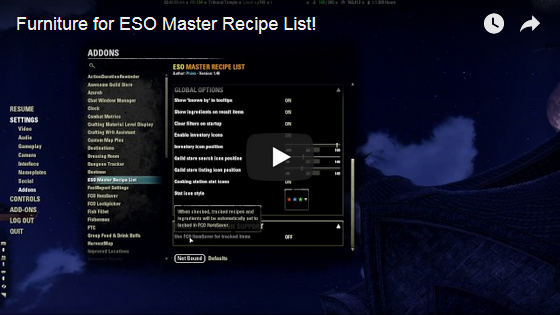 Eso master recipe list elder scrolls online important note known recipe status has been reset for version 150 you will need to log in to each of your characters to rebuild their database of known forumfinder Images