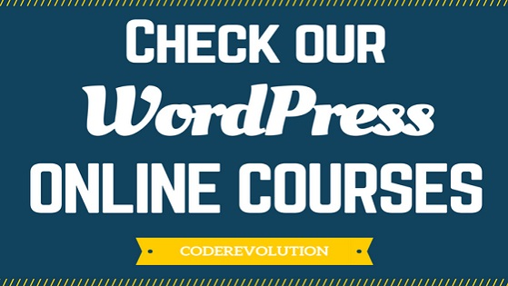 Check our WordPress courses