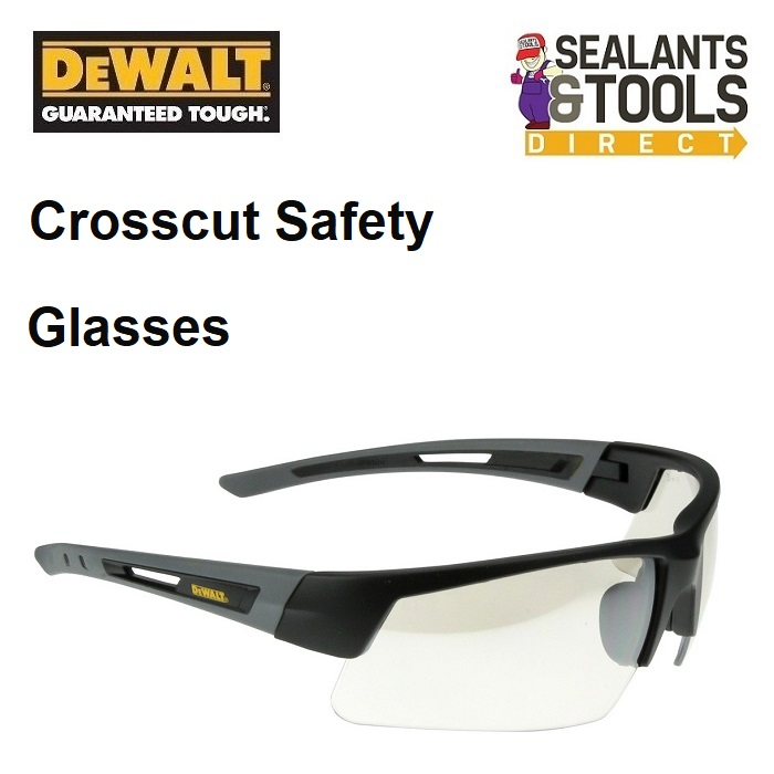 DeWalt DPG100-9D Crosscut Wrap Around Clear Safety Glasses