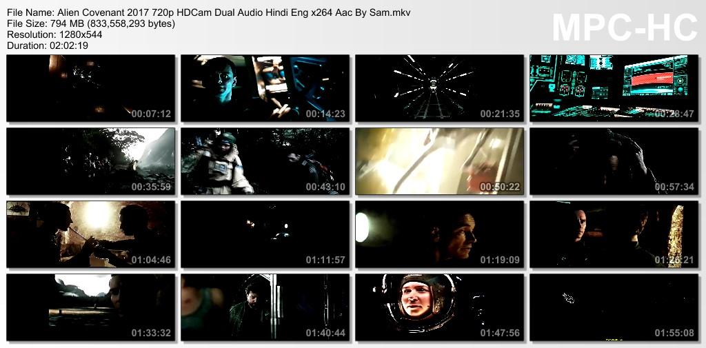 Alien Covenant 2017 720p HDCam Dual Audio Hindi-Eng x264 Aac-Sam