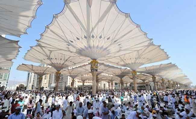 Самые большие в мире зонтики, которые будут установлены в Великой Мечети Аль-Харам в Мекке