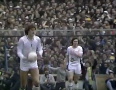 As The 1981 FA Cup Semi Final Went On Uncomfortable Tightness Of Supporters In Packed Terrace Could Be Seen Background