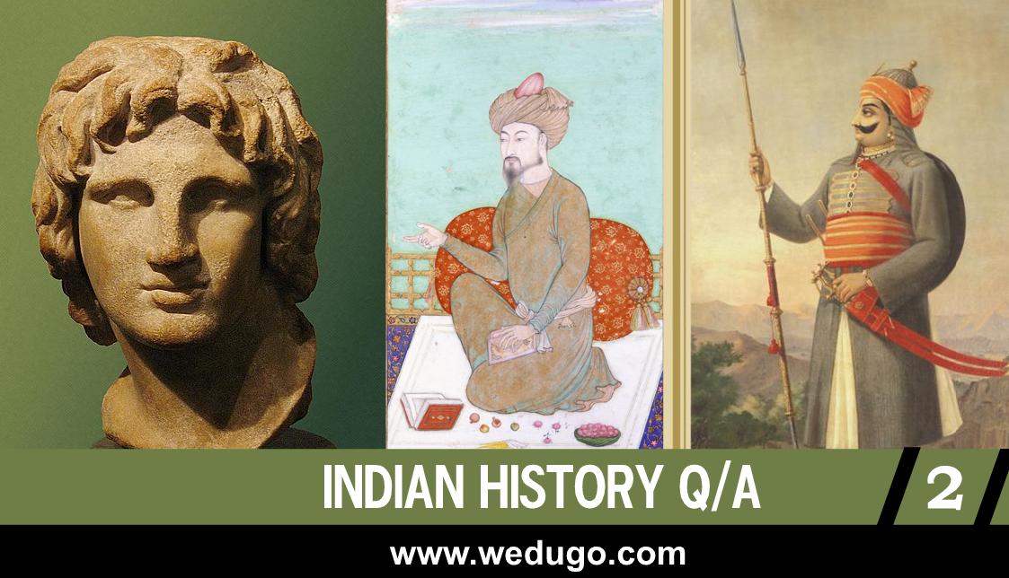 Who was defeated by Babur in the first battle of Panipat - Best Indian History questions and answers part 2 in English