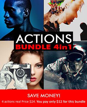 Action Bundle  - Action Bundle - Tech Sketch Photoshop Action