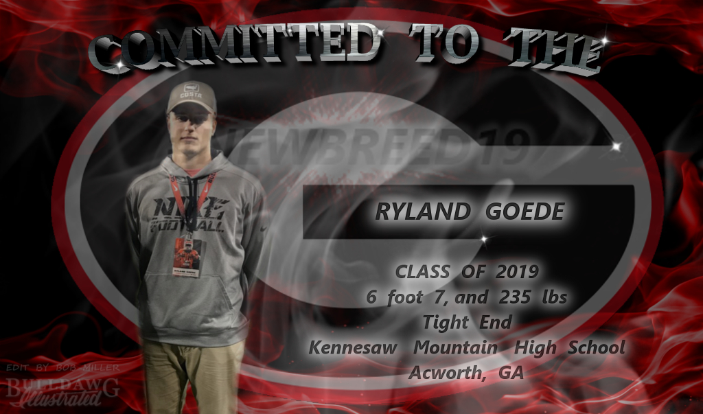 Ryland Goede, Committed To The G edit by Bob Miller/Bulldawg Illustrated