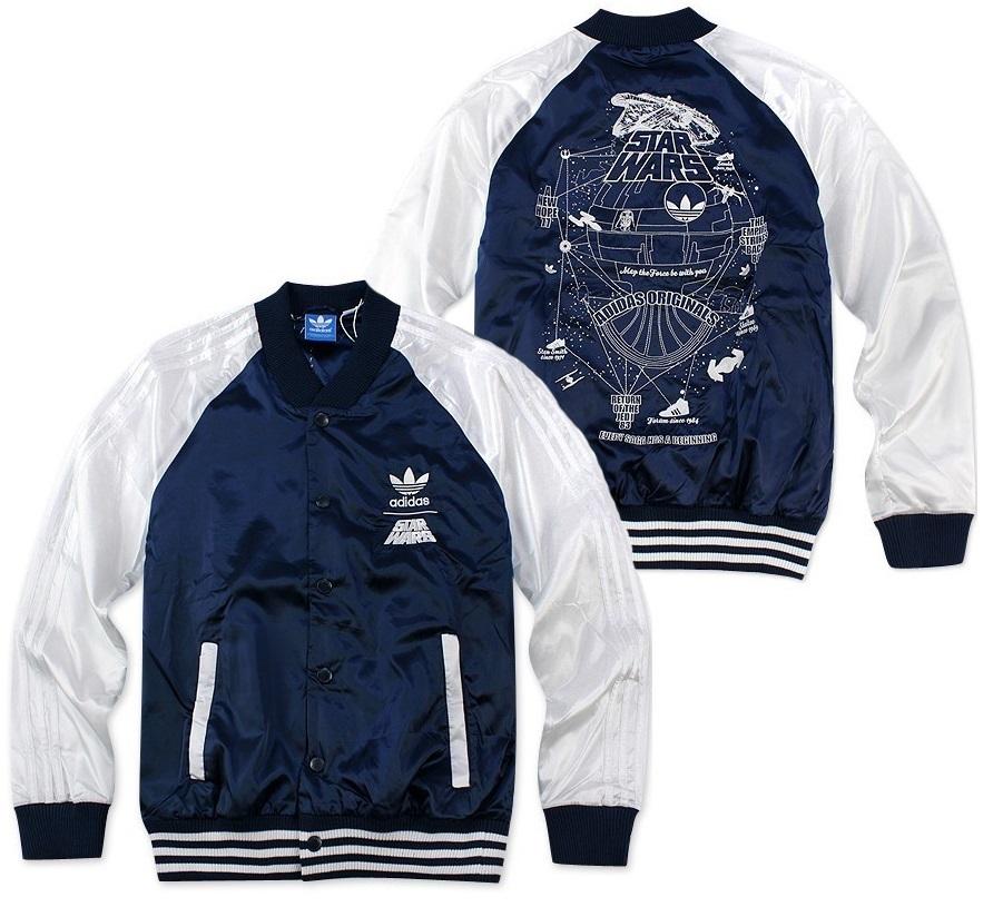 5eaad3bd9b3f New Amazing Adidas Originals X StarWars Jedi Varsity Jacket Hoodie ...