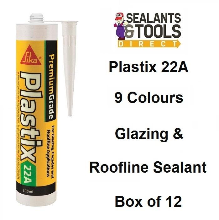 Sika Plastix 22A Premium Glazing & Roofline Silicone Sealant Box