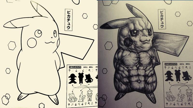Fan biến sách tô màu Pokémon thành truyện kinh dị