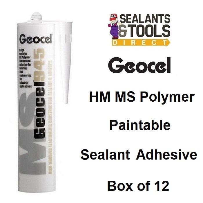 Geocel 945 Construction Sealant 290ml White Grey Black Box