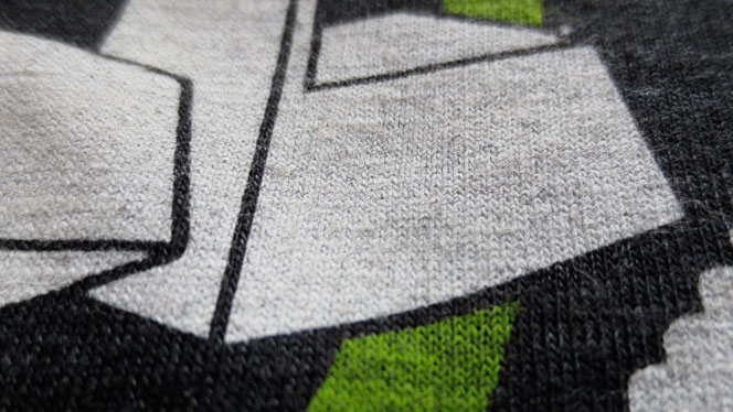 Image of close up screen printed tshirt