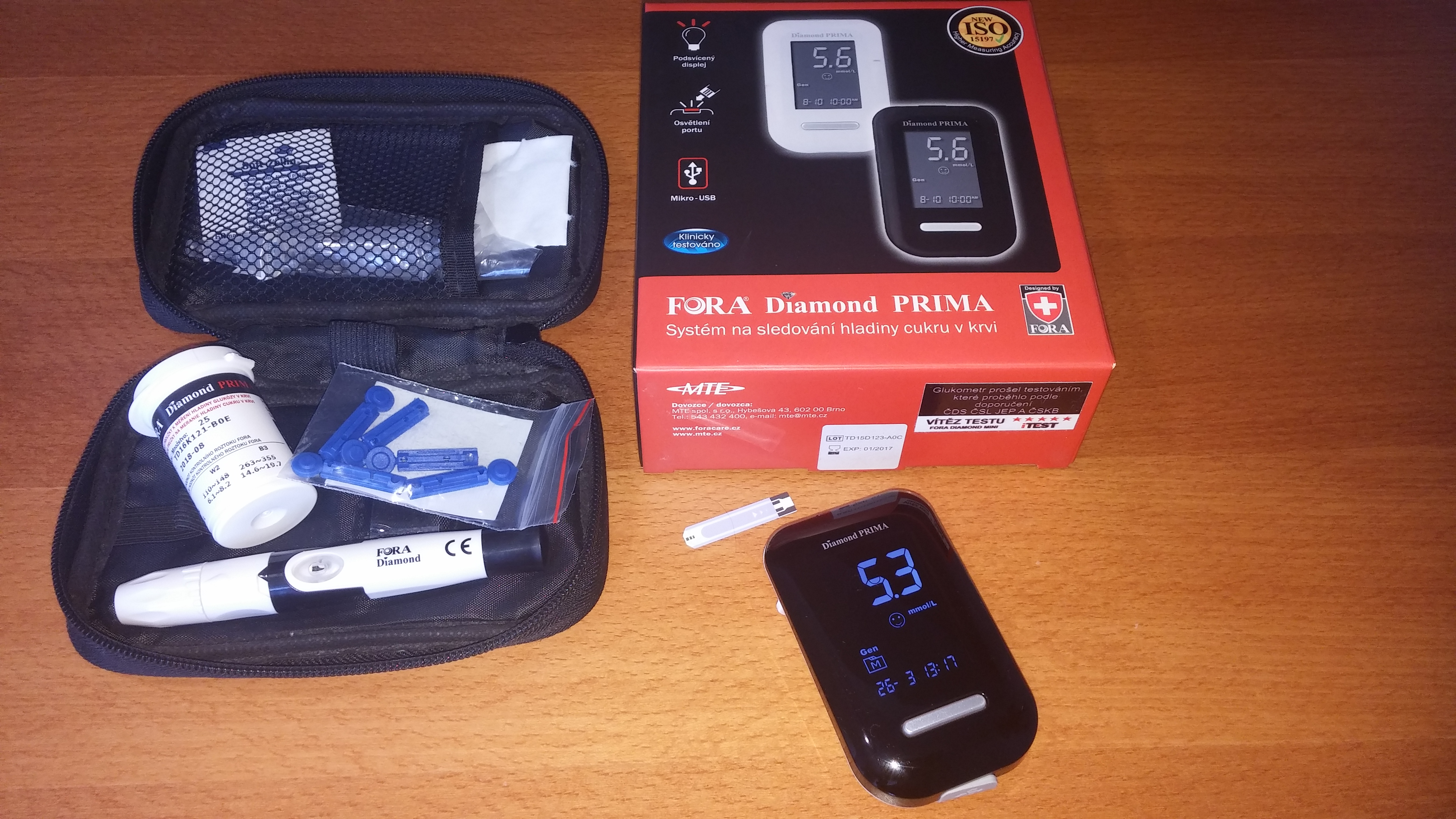 Glukometr Fora Diamond PRIMA s příslušenstvím