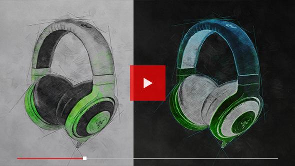 - youtube screen Tech - Tech Sketch Photoshop Action