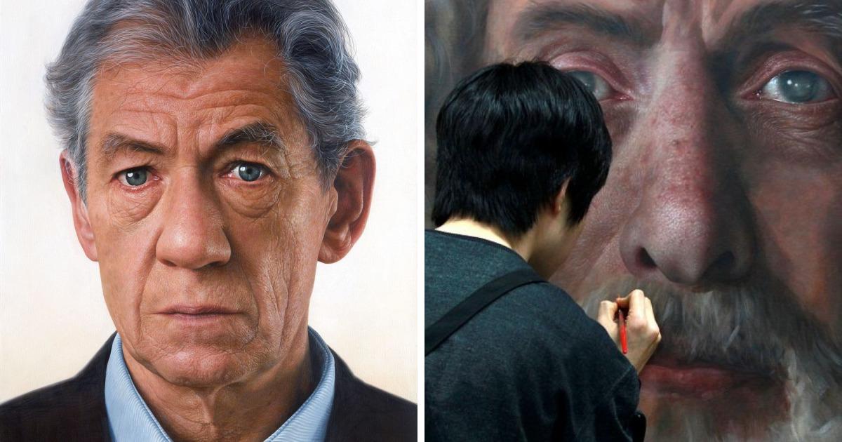 Portretele HIPERREALISTE realizate de artistul corean Joongwon Jeong îți TAIE RĂSUFLAREA