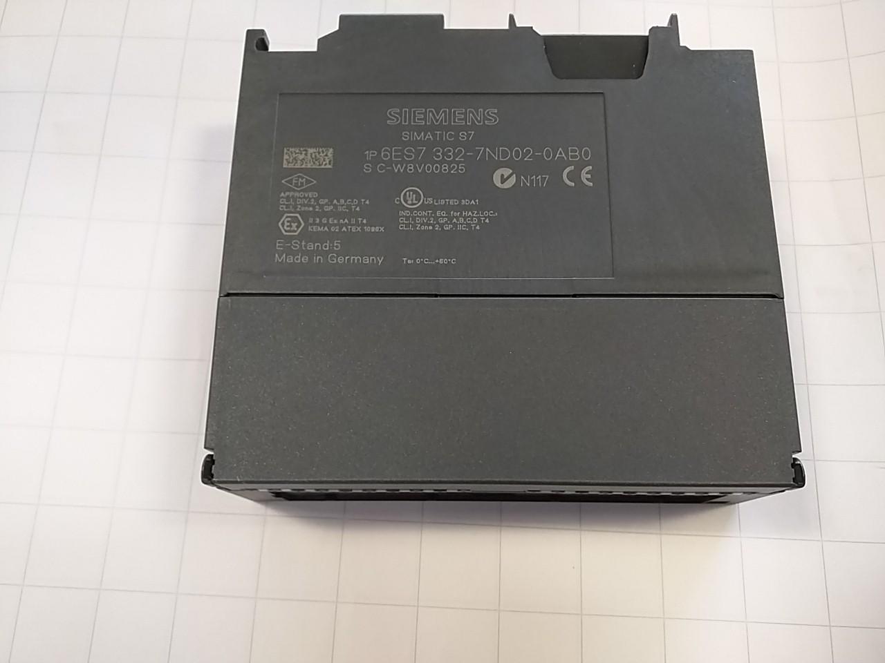 Siemens 6 es7 332 analog output module 2