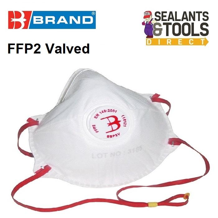 B Brand FFP2 Valved dust Mask