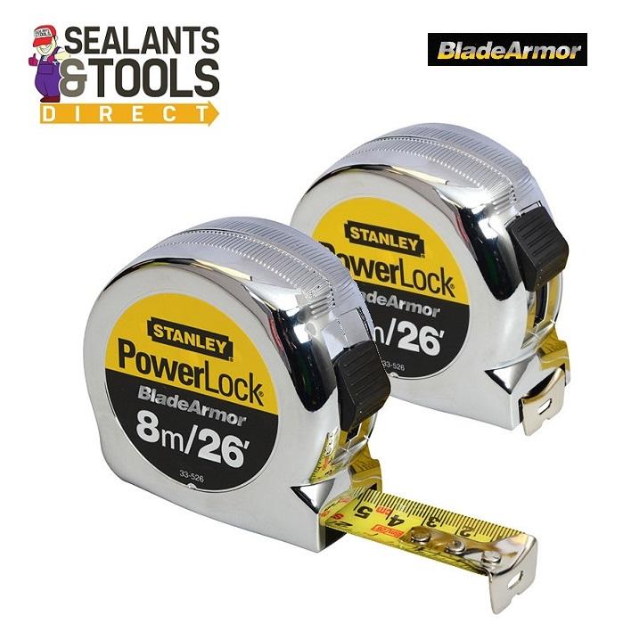 Stanley Powerlock 8m Tape Measure 0-33-526