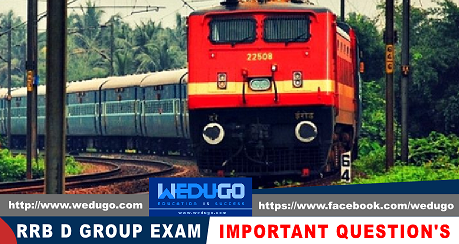 RRB D Group Important Questions