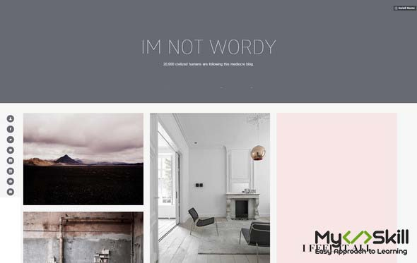 Wordy Tumblr Theme