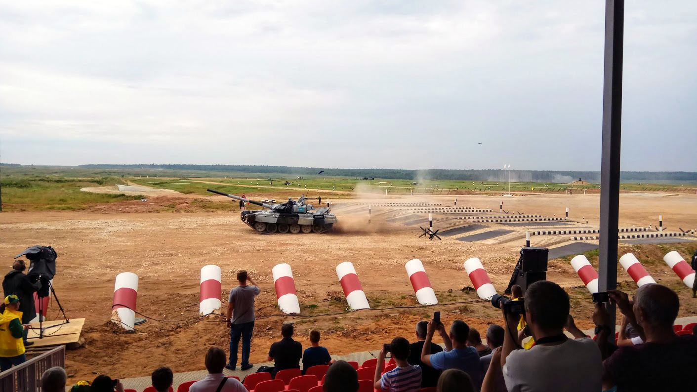 Казахский танк на старте