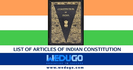 List of Articles of Indian Constitution in Hindi