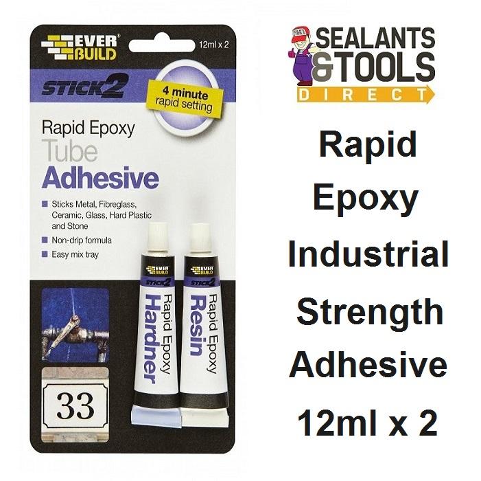 Everbuild Rapid Epoxy Tube Adhesive S2RAPEXTUBE