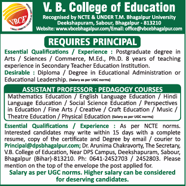 Jobs in VB College of Education