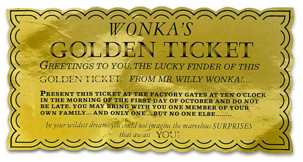 Golden Ticket Charlie And The Chocolate Factory Font