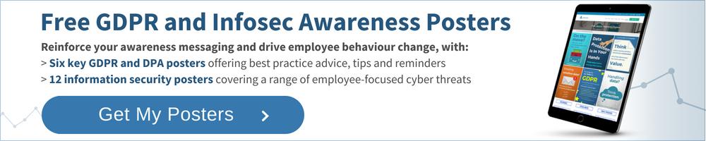GDPR awareness and Infosec Posters