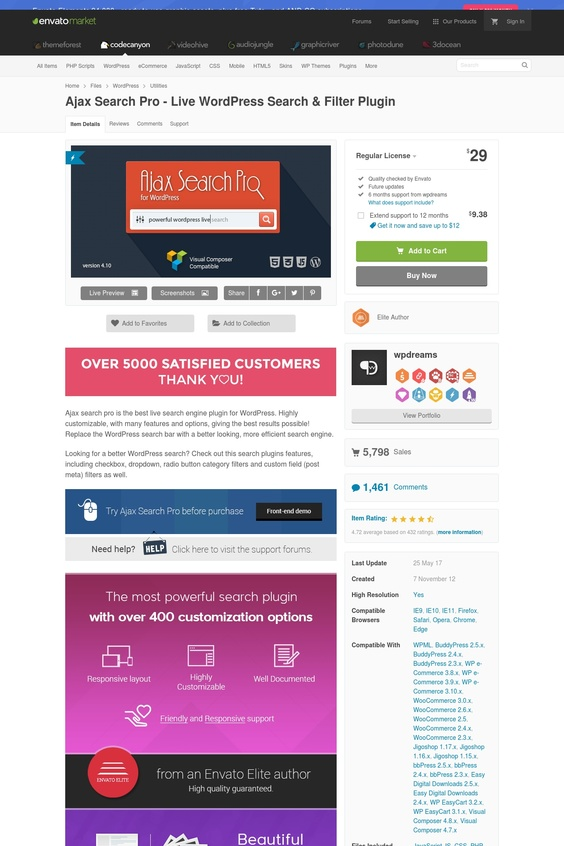 Ajax Search Pro for WordPress was intended to support the client seek involvement to the most extreme. It gives a live ajax look, which makes the wordpress seek encounter more confortable. The outcomes are given pictures (if any discovered), so they look more appealing and less level. The hunt works with cell phones, let it be Android or IOS controlled. The inquiry can abrogate the default wordpress query items – so the ajax usefulness is expanded – supplant your default topic look with just a tick of a catch. The hunt can return posts, custom post sorts (like WooCommerce items, BBPress discussions, themes, answers), Categories, custom scientific categorization terms (like item classes), clients, buddypress gorups and buddypress exercises as results.