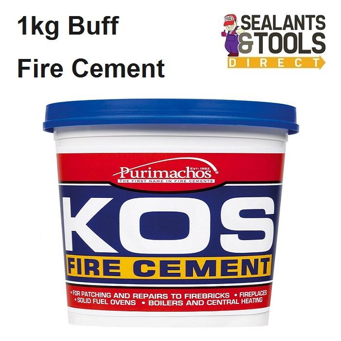 Everbuild Kos Fire Cement Buff 1kg PCKOSFIRE1