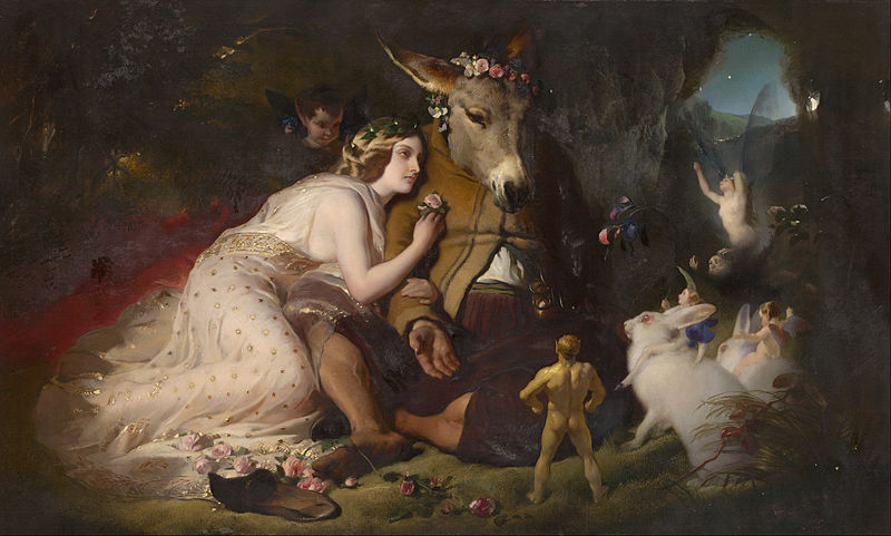 800px Edwin Landseer Scene from A Midsummer Night s Dream Titania and Bottom Google Art Project
