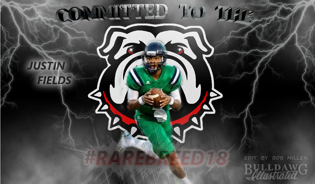 Justin Fields RAREBREED18 edit by Bob Miller / Bulldawg Illustrated