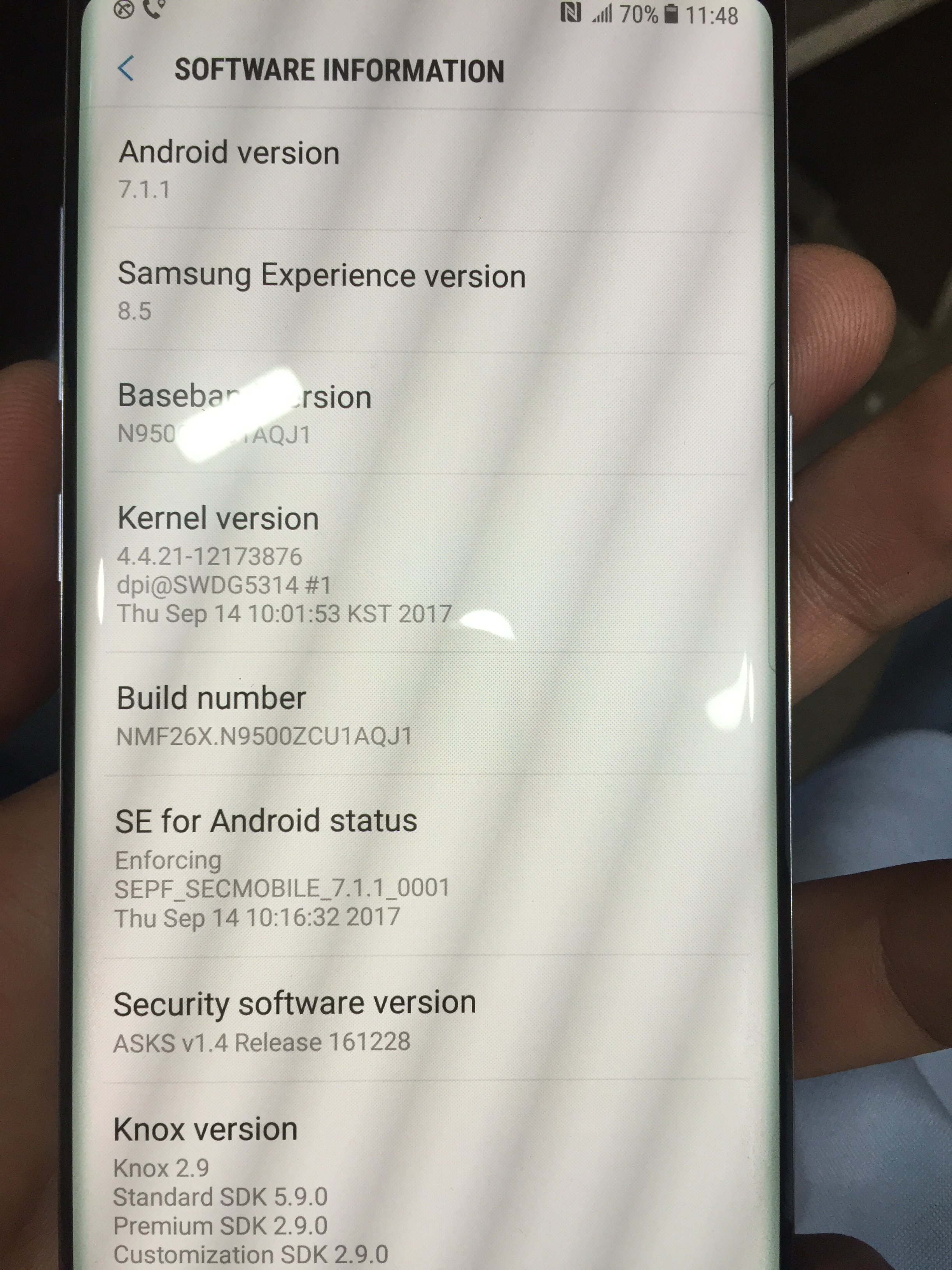 SM-N9500 qualcomm secureboot enable odin failed - GSM-Forum