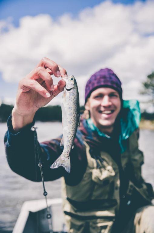 Vis gevangen tijdens de visvakantie