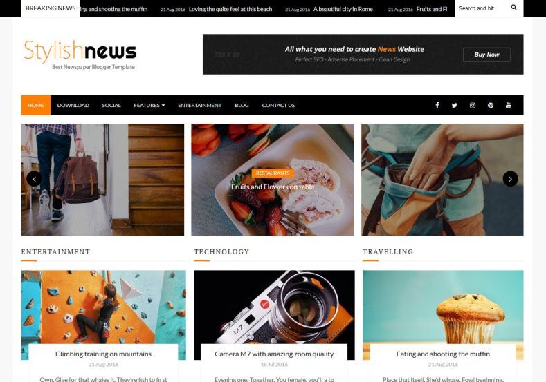 Stylish_News_Blogger_Template