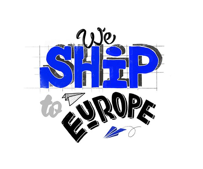 We ship to Europ