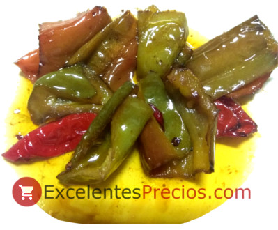 Olive oil for frying, Fry with oil of olive, fried peppers