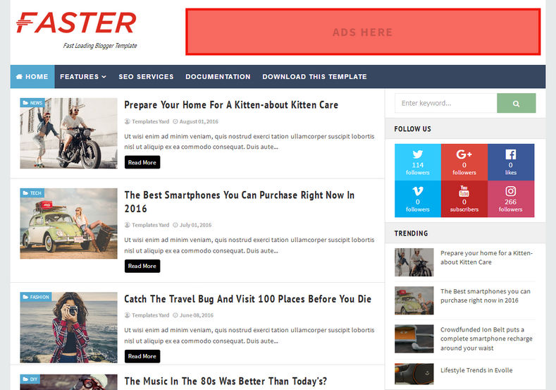 Faster_Fast_Loading_Blogger_Template