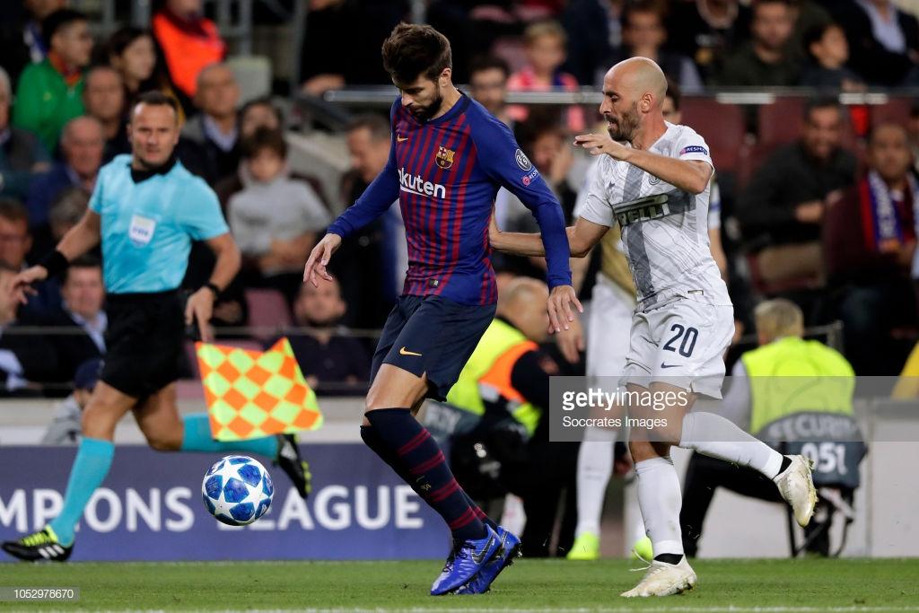 صور مباراة : برشلونة - إنتر ميلان 2-0 ( 24-10-2018 )  L