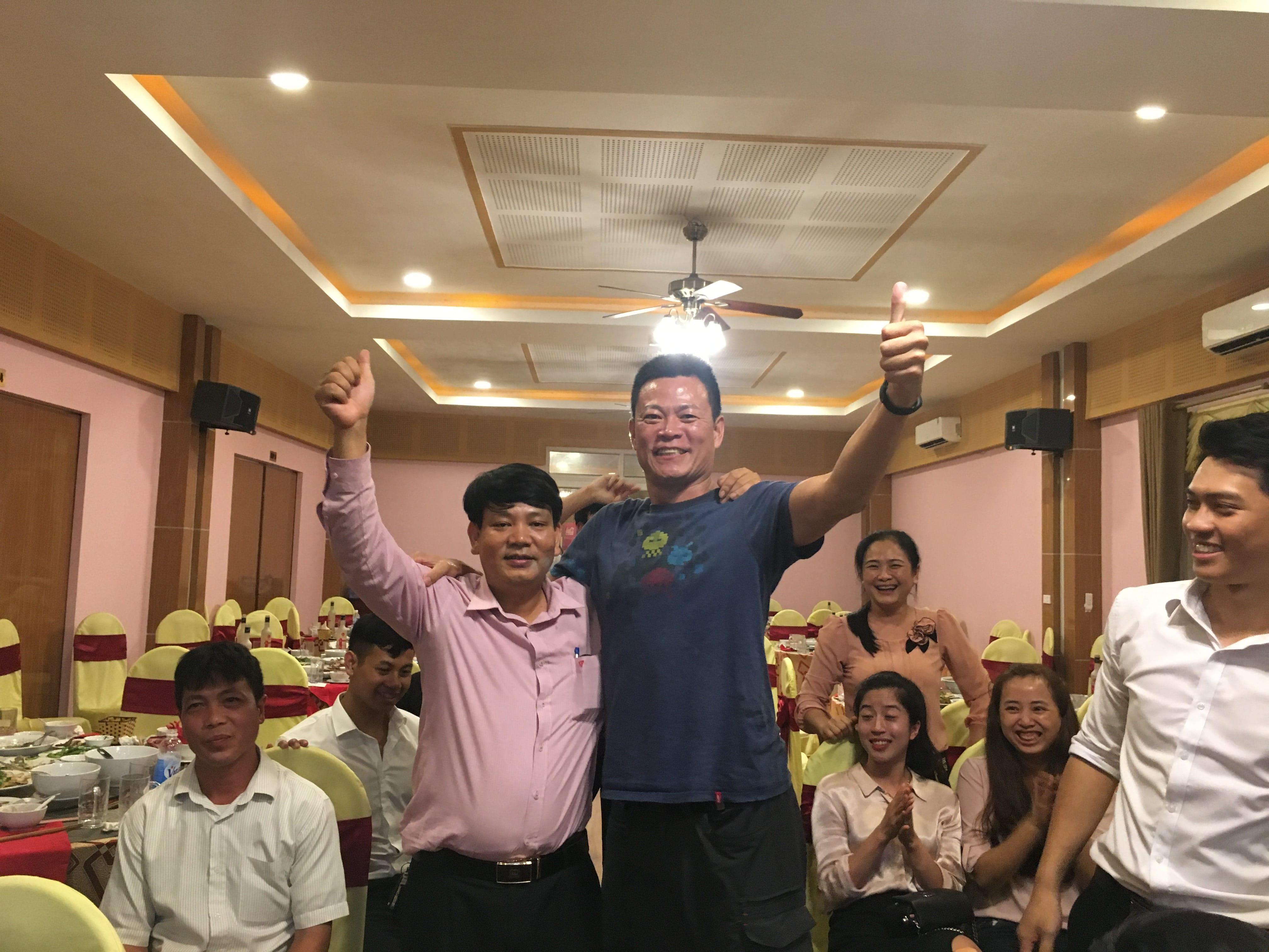 Các giáo sư thuộc trường ĐH Trung ương Quốc lập Đài Loan (NCU) cùng tham gia buổi liên hoan