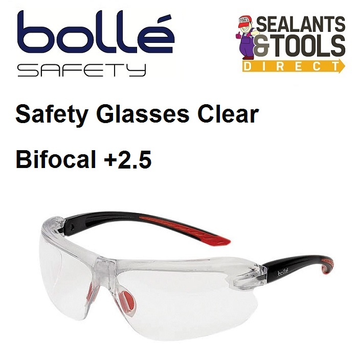 b79dbea364 Bolle IRI-s Safety Glasses Clear Bifocal Reading Area +2.5