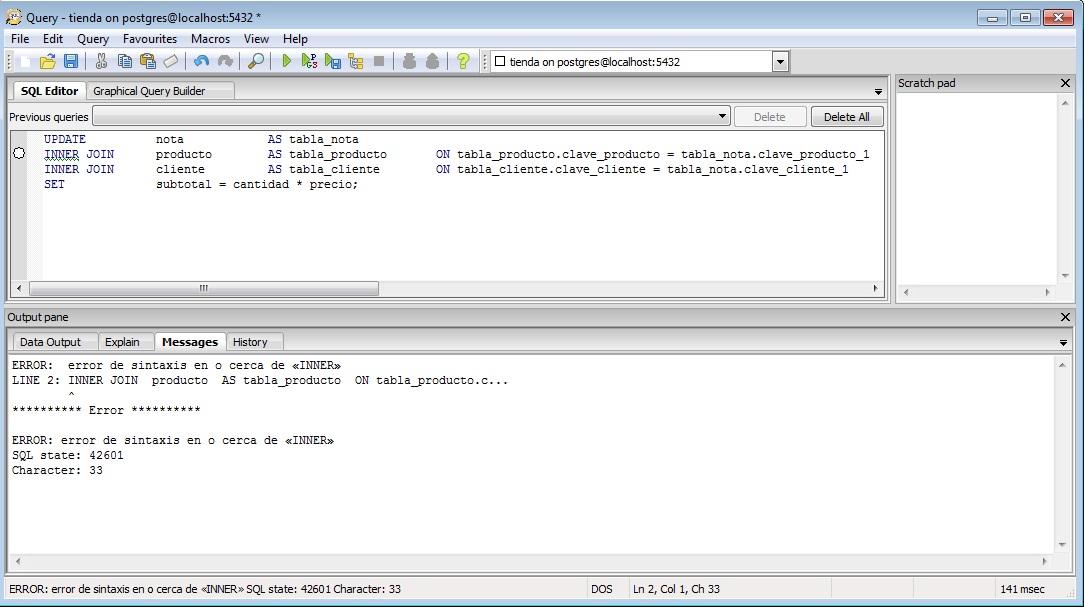 Actualizar campos de otra Tabla usando UPDATE e INNER JOIN - Foros