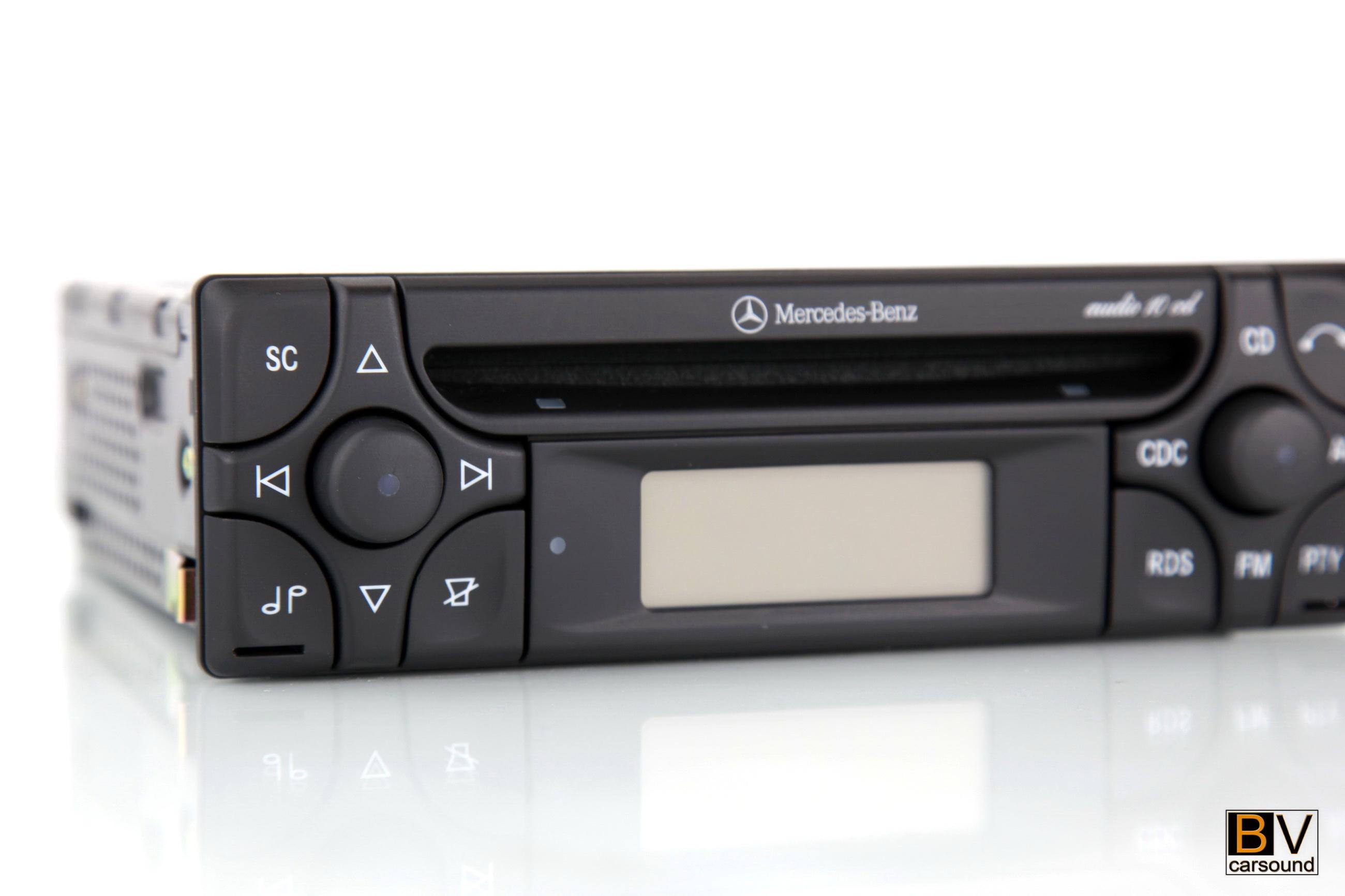 mercedes benz audio 10 cd aux in r170 slk200 slk230 slk320. Black Bedroom Furniture Sets. Home Design Ideas
