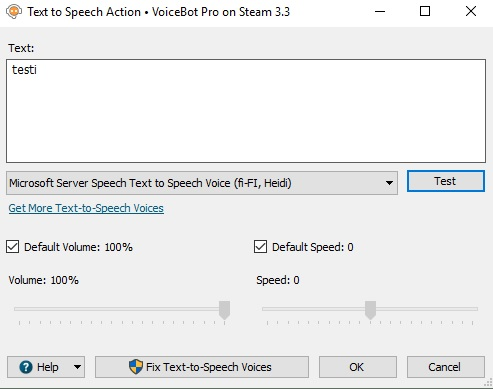 Is it possible to use finnish speech recognition
