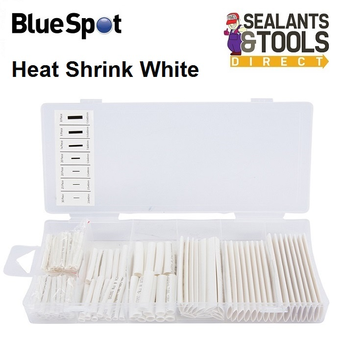 Blue Spot Heat Shrink Wire Wrap Tubing Mixed White Set 40509