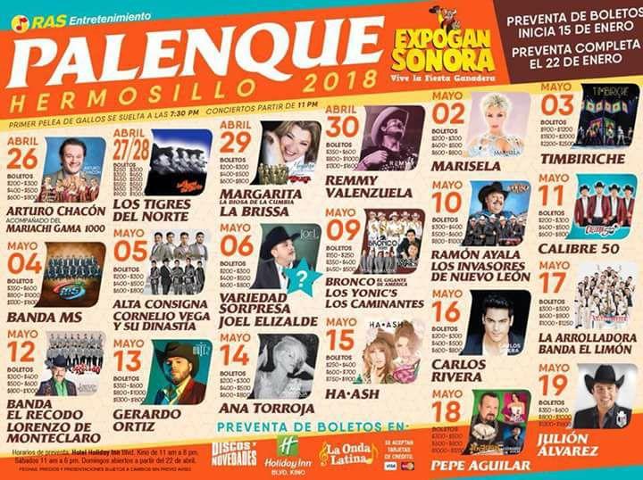 expogan sonora 2018 palenque hermosillo