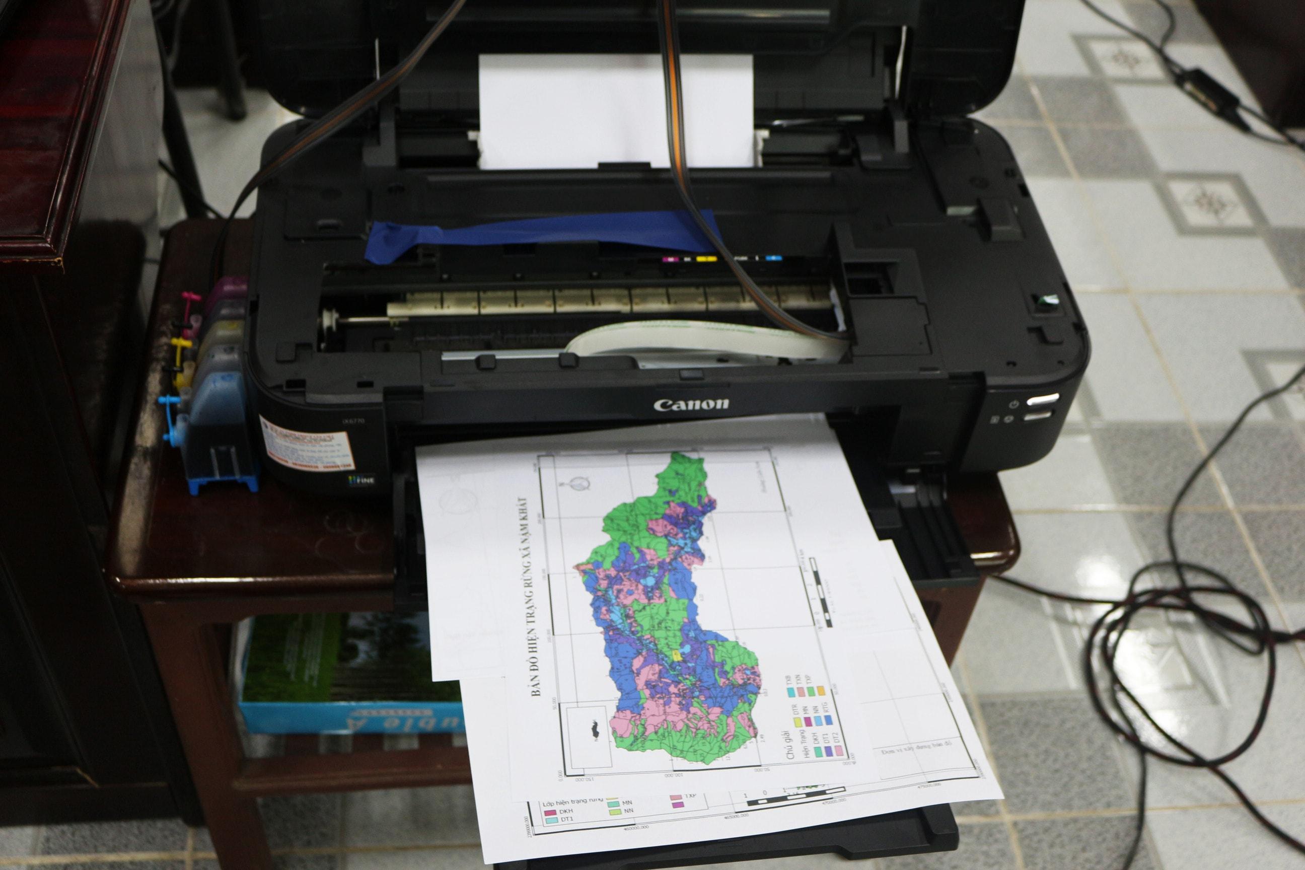 In thử bản đồ sản phẩm sau khóa học của học viên