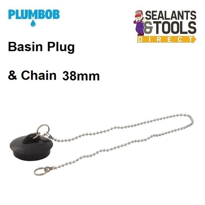 Plumbob Sink Basin Plug & Chain 38mm 320962