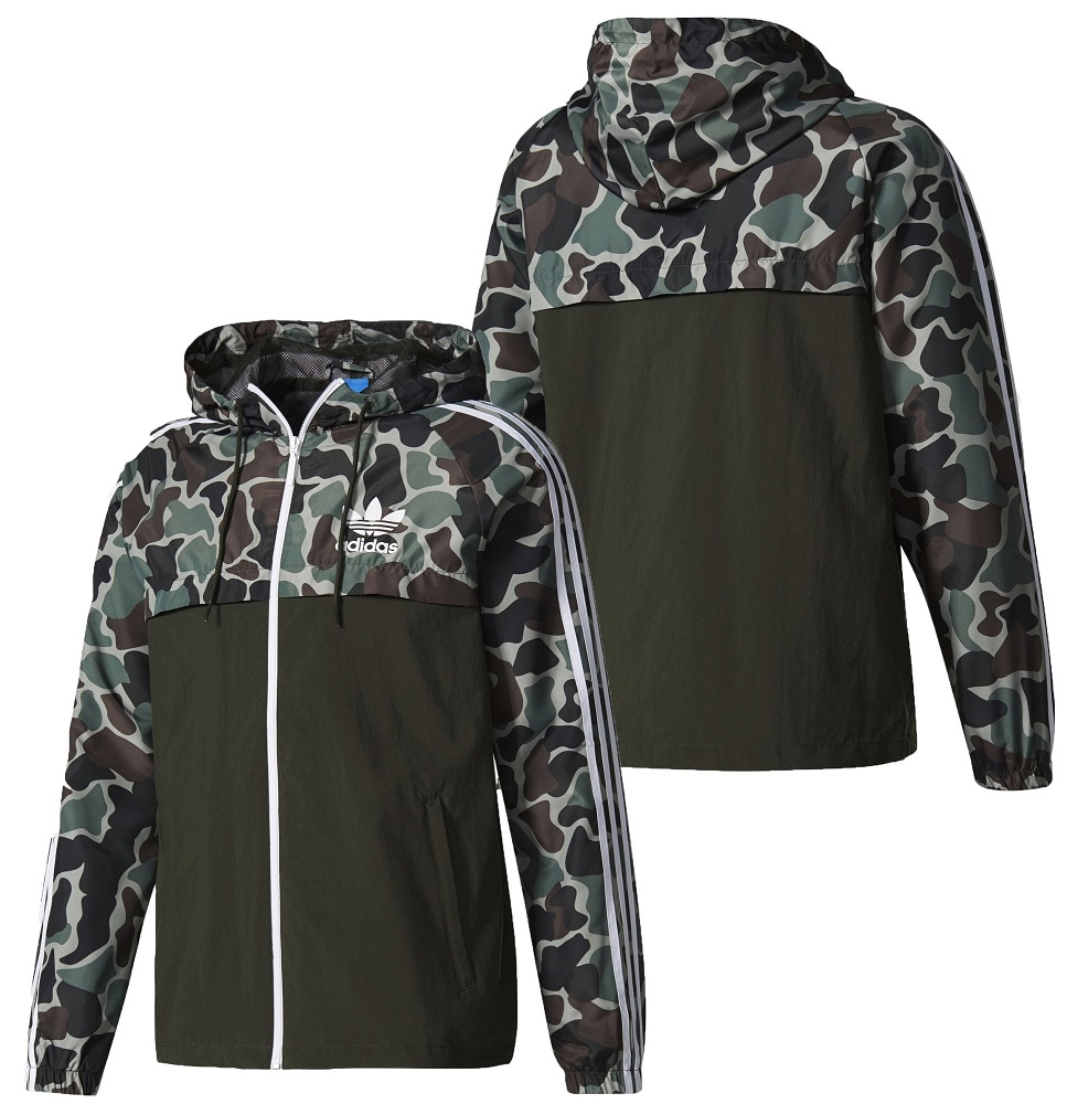 Details about New Adidas Camo Rev Windbreaker Camouflage Jacket Multicolor Hoodie BS4907